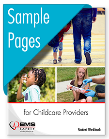 Childcare Providers Workbook sample pages
