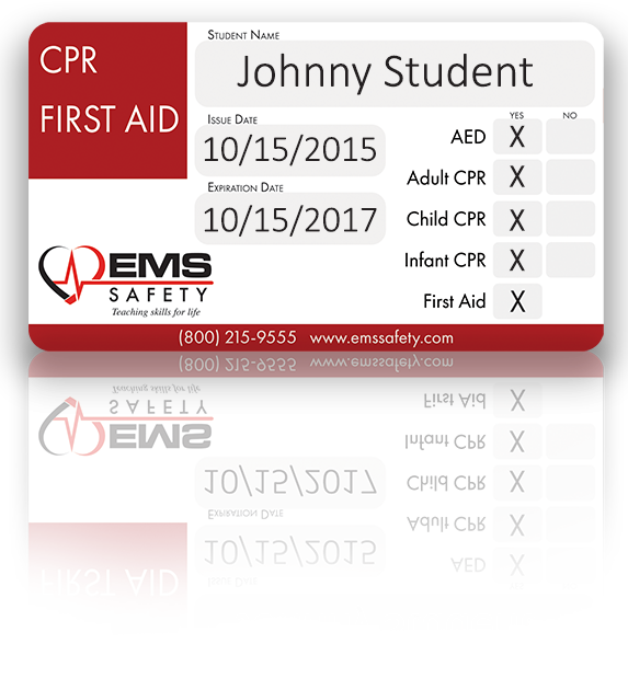 EMS Safety- Sample card