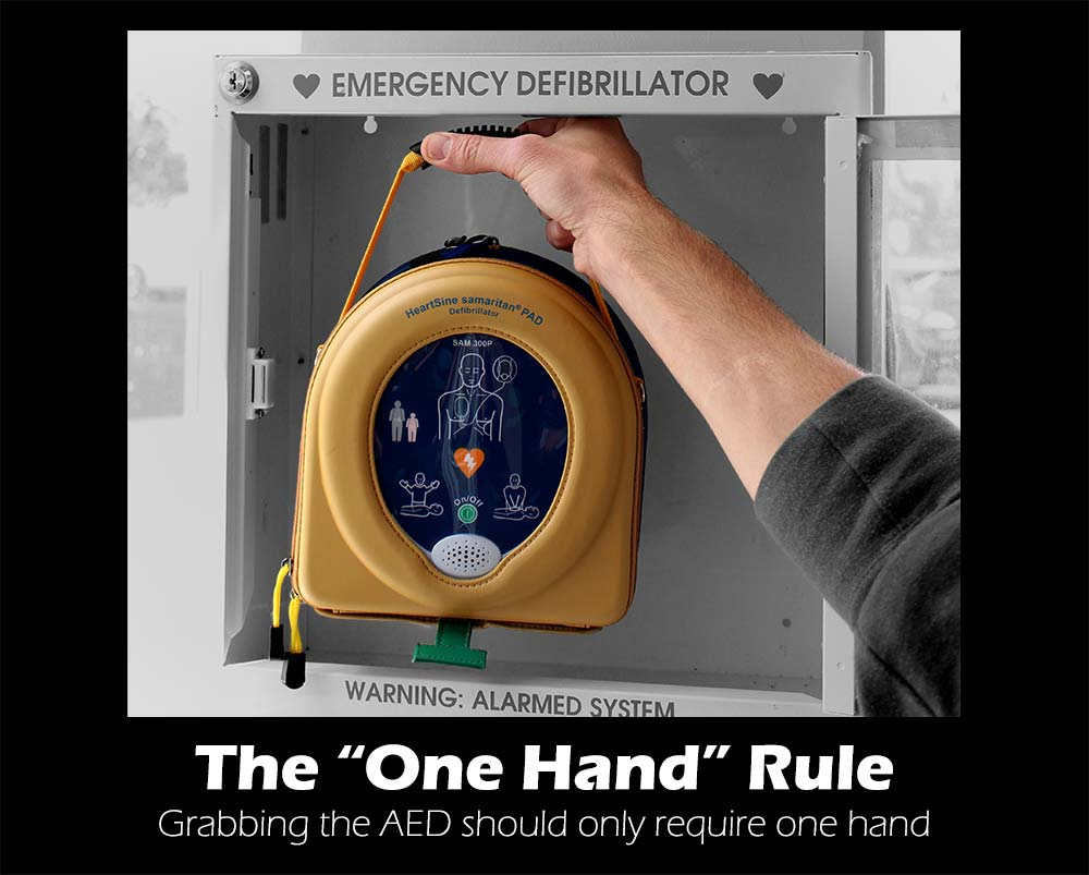 AED One-Hand-Rule