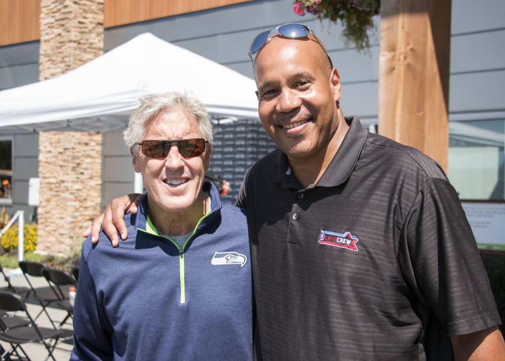 Bo Kimble with Pete Carroll