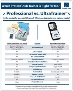 Professional AED Trainer Vs. UltraTrainer