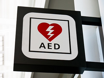 AEDs in Schools - AED sign