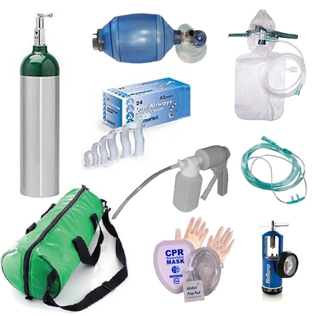 Emergency Oxygen Training Supplies