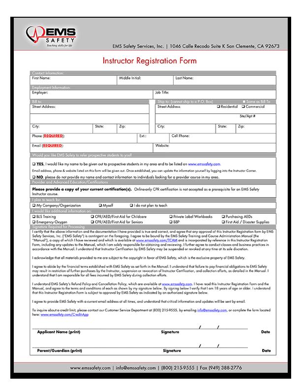 Instructor Certification Registration