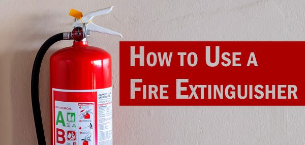 How to use a fire extinguisher header