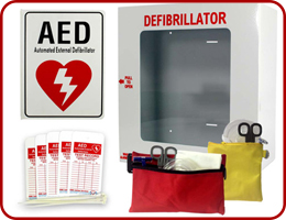 AED - Cabinets, Kits and Signs