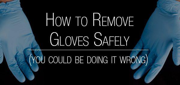 remove gloves safely header