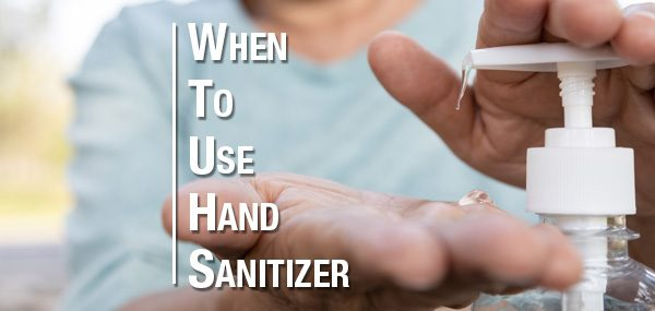 When to use hand sanitizer header