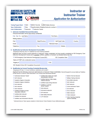 Instructor Application