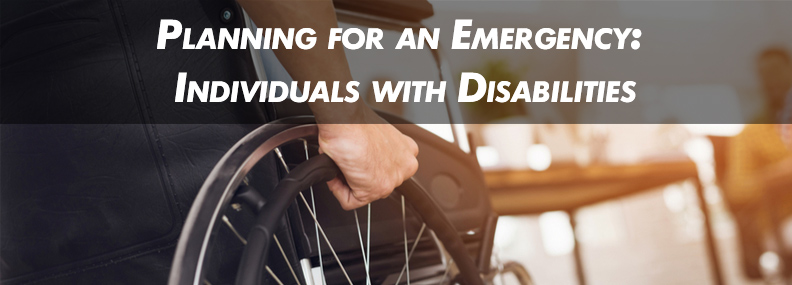 Emergency Planning for a person with a Disability